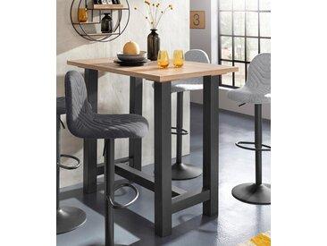 Bartisch Tischplatte: Holzwerkstoff, Gestell: MDF, Breite 120 cm beige Bartische, Theken Tresen Barmöbel Küchenmöbel Tisch