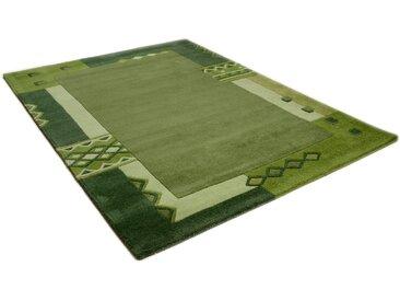 Wollteppich, Florida 3193, THEKO, rechteckig, Höhe 14 mm, handgetuftet 10 (Ø 200 cm), mm grün Moderne Teppiche Unisex