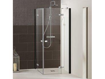 Dusbad Eckdusche Vital 1, Black Edition, Drehtür mit Festteil B/H: 90 cm x 200 cm, beidseitig montierbar farblos Duschkabinen Duschen Bad Sanitär Bodenablauf