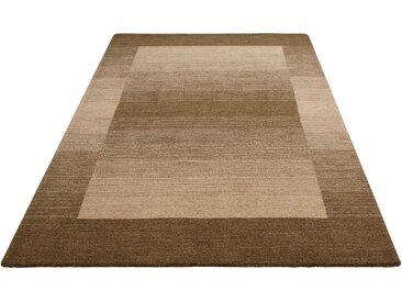 Theko Exklusiv Wollteppich Gabbeh Super, rechteckig, 9 mm Höhe, reine Wolle, Wohnzimmer 4, 160x230 cm, braun Schlafzimmerteppiche Teppiche nach Räumen