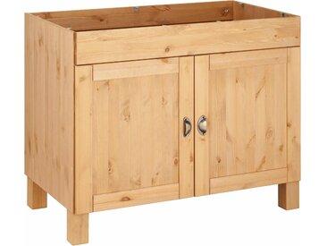 Home affaire Spülenschrank Oslo 100 x 83 57 (B H T) cm, 2-türig beige Spülenschränke Küchenschränke Küchenmöbel Schränke