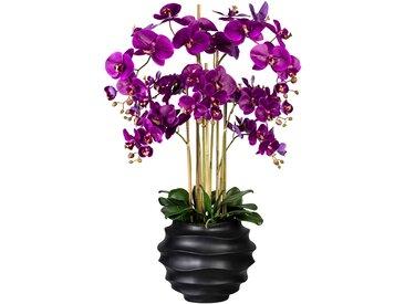 Creativ green Kunstorchidee Phalaenopsis, in Design-Kunststoffvase H: 95 cm lila Künstliche Zimmerpflanzen Kunstpflanzen Wohnaccessoires