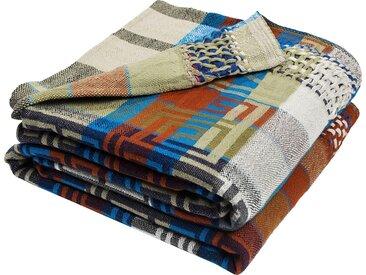 Wohndecke Origin, zoeppritz 180x260 cm, Baumwolle grün Baumwolldecken Decken Wohndecken