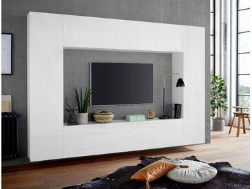 Tecnos Wohnwand Maruska (Set, 4-tlg) Einheitsgröße weiß Hochglanz Wohnwände Schränke Kastenmöbel-Sets