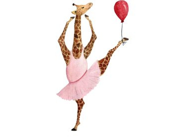 queence Leinwandbild Ballerina Giraffe 80x120 cm rosa Leinwandbilder Bilder Bilderrahmen Wohnaccessoires