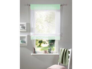my home Bändchenrollo Xana, mit Stangendurchzug, 140 cm, 100 cm blau Wohnzimmergardinen Gardinen nach Räumen Vorhänge