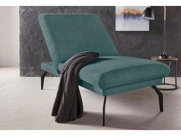 Places of Style Hockerbank Salerno, durch Rückenverstellung vollwertiges Sitzmöbel Struktur weich grün Polsterhocker Sessel und Hocker Sofas Couches