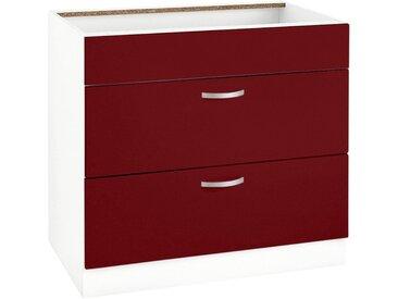 wiho Küchen Unterschrank Flexi Einheitsgröße rot Unterschränke Küchenschränke Küchenmöbel Schränke