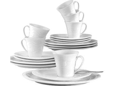 Seltmann Weiden Kaffeeservice Allegro (18-tlg.), Porzellan Einheitsgröße weiß Geschirr-Sets Geschirr, Tischaccessoires Haushaltswaren