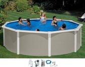MyPool Rundpool, (Set) Ø/B/H/L: 460 cm x Breite Höhe 132 Länge, 20000 l grau Rundpool Swimmingpools Pools Planschbecken Garten Balkon