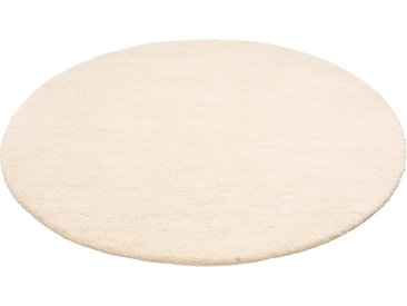 Leonique Wollteppich Punam, rund, 28 mm Höhe, reine Wolle, echter Berber, handgeknüpft, Wohnzimmer Ø 150 cm, 1 St. grau Schlafzimmerteppiche Teppiche nach Räumen