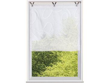 Bruno Banani Raffrollo TILO, mit Hakenaufhängung, Ausbrenner 130 cm, 60 cm weiß Halbtransparente Gardinen Vorhänge
