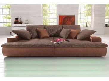 Nova Via Big-Sofa Microfaser PRIMABELLE® / Struktur, 260 cm, ohne Beleuchtung braun Sofas mit LED Couches