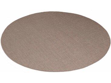 Living Line Sisalteppich Trumpf, rund, 6 mm Höhe, Obermaterial: 100% Sisal, Wohnzimmer 44 (Ø 300 cm), braun Runde Teppiche Weitere