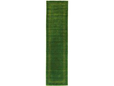morgenland Läufer LORIBAFT NOVA, rechteckig, 15 mm Höhe, Schurwolle Luxus Bordüre, Wohnzimmer B/L: 80 cm x 300 cm, 1 St. grün Teppichläufer Bettumrandungen Teppiche