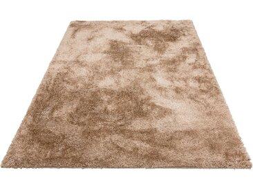 Home affaire Hochflor-Teppich Malin, rechteckig, 43 mm Höhe, Shaggy, Uni Farben, leicht glänzend, besonders weich durch Microfaser, Wohnzimmer B/L: 240 cm x 320 cm, 1 St. beige Esszimmerteppiche Teppiche nach Räumen