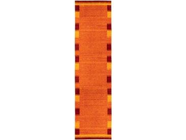 morgenland Läufer GABBEH FEIN LUXO, rechteckig, 18 mm Höhe, reine Schurwolle Bordüre B/L: 80 cm x 300 cm, 1 St. orange Teppichläufer Teppiche und Diele Flur