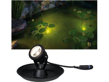 Paulmann LED Teichleuchte Outdoor Plug&Shine Underwater Spot, 1 St., Warmweiß, IP68 3000K 24V mit 2m Kabel flg., Ø 20 cm Höhe: 12 cm, St. schwarz LED-Lampen LED-Leuchten SOFORT LIEFERBARE Lampen Leuchten