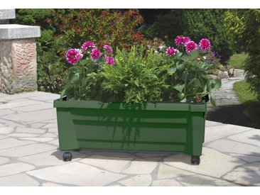 KHW Pflanzkübel, BxTxH: 79x35x33 cm B/H/T: 79 x 33 35 grün Pflanzgefäße Blumenvasen Wohnaccessoires Pflanzkübel