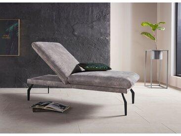 Places of Style Hockerbank Salerno, durch Rückenverstellung vollwertiges Sitzmöbel B/H/T: 152 cm x 45 76 cm, Luxus-Microfaser Lederoptik grau Polsterhocker Sessel und Hocker Sofas Couches