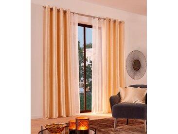 Vorhang, Glow, Guido Maria Kretschmer Home&Living, Ösen 2 Stück 4, H/B: 245/140 cm, blickdicht, goldfarben Blickdichte Vorhänge Gardinen Gardine