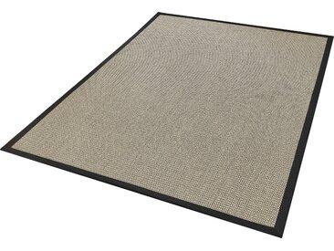 Dekowe Sisalteppich Brasil, rechteckig, 6 mm Höhe, Flachgewebe, Obermaterial: 100% Sisal, Wohnzimmer 6, 200x290 cm, schwarz Schlafzimmerteppiche Teppiche nach Räumen