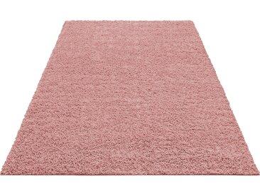 Home affaire Hochflor-Teppich Shaggy 30, rechteckig, 30 mm Höhe, gewebt, Wohnzimmer B/L: 280 cm x 390 cm, 1 St. rosa Esszimmerteppiche Teppiche nach Räumen