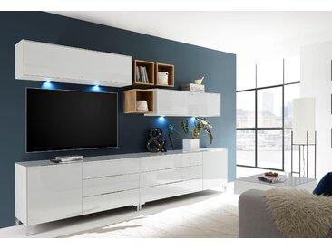 Wohnwand Mix-Box Set 2 0, Einheitsgröße weiß Moderne Wohnwände Schränke Kastenmöbel-Sets