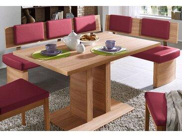 SCHÖSSWENDER Eckbank Trio, pflegeleicht B/H/T: 155 cm x 85,6 195 cm, Kunstleder, Langer Schenkel links rot Sitzbänke Nachhaltige Möbel