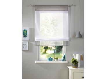 Bändchenrollo Xana, my home, mit Stangendurchzug 3, H/B: 120/60 cm, transparent, grau Kinder Kinderzimmer-Rollos Rollos Jalousien Raffrollo