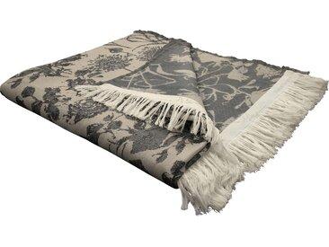 Wohndecke Flower Cuvée, Adam 145x190 cm, Baumwolle braun Baumwolldecken Decken Wohndecken