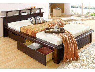 Home affaire Funktionsbett Finja 140x200 cm braun Doppelbetten Betten Daybetten