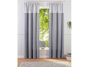 Home affaire Gardine Mit Spitze 225 cm, Kräuselband, 110 cm grau Blickdichte Vorhänge Gardinen