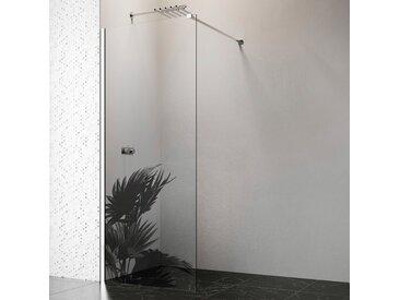 welltime by GEO Walk-in-Dusche, 90 cm, chrom Einheitsgröße silberfarben Duschwände Duschen Bad Sanitär