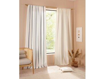 LeGer Home by Lena Gercke Gardine Anisha 145 cm, Stangendurchzug, 110 cm beige Blickdichte Vorhänge Gardinen