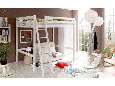 Ticaa Hochbett Matthias 140x200 cm weiß Kinder Hochbetten Kinderbetten Betten