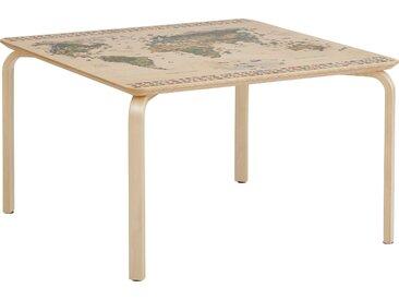 Lüttenhütt Kindertisch Pippa, mit Weltkarte auf der Oberplatte B/H/T: 75 cm x 45 beige Kinder Kindermöbel Nachhaltige Möbel