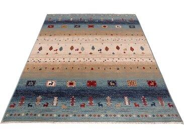 Home affaire Teppich Mavie, rechteckig, 10 mm Höhe, Berber-Optik, Wohnzimmer B/L: 280 cm x 380 cm, 1 St. blau Esszimmerteppiche Teppiche nach Räumen