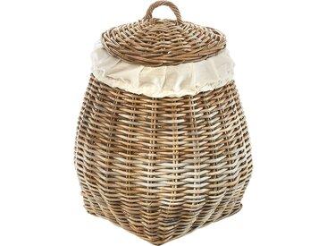 locker Wäschekorb Pear, mit abnehmbarem Deckel H: 65 cm braun Wäschetruhen Wäschekörbe Badmöbel Wäschetruhe