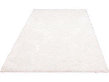Home affaire Hochflor-Teppich Malin, rechteckig, 43 mm Höhe, Shaggy, Uni Farben, leicht glänzend, besonders weich durch Microfaser, Wohnzimmer B/L: 240 cm x 320 cm, 1 St. weiß Esszimmerteppiche Teppiche nach Räumen