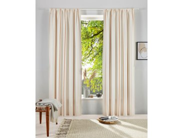 OTTO products Gardine Matts, blickdichter Vorhang 175 cm, Stangendurchzug, 140 cm weiß Blickdichte Vorhänge Gardinen