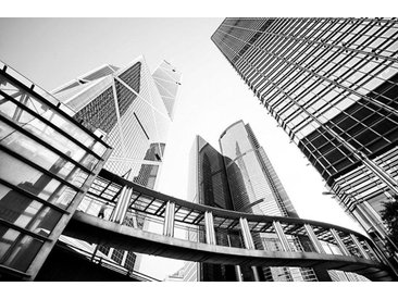 Places of Style Acrylglasbild Hochhäuser 150x100 cm, grau Acrylglasbilder Bilder Bilderrahmen Wohnaccessoires