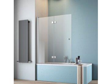 maw Badewannenfaltwand A-B400, Breite 140 cm Einheitsgröße silberfarben Duschwände Duschen Bad Sanitär