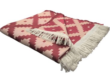 Wohndecke Maroccan Shiraz, Adam 145x190 cm, Baumwolle rot Baumwolldecken Decken Wohndecken