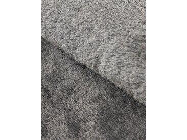 Hochflor-Teppich, Breeze, carpetfine, rund, Höhe 45 mm, handgetuftet (Ø 300 cm), mm grau Shaggy-Teppiche Hochflor-Teppiche Teppiche
