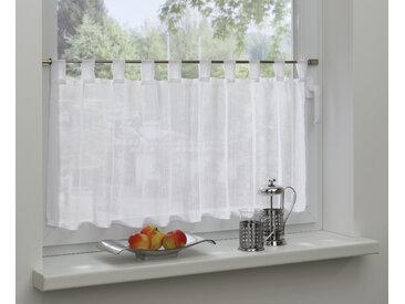 GARDINIA Scheibengardine Effektgarn, HxB: 48x140 48 cm, Schlaufen, 140 cm weiß Wohnzimmergardinen Gardinen nach Räumen Vorhänge