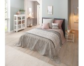 Home affaire Tagesdecke Cremona, auch als Tischdecke und Sofaüberwurf einsetzbar B/L: 140 cm x 210 rosa Baumwolldecken Decken