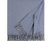 ELLE DECORATION Plaid Crafts, Uni-Plaid mit Fransen B/L: 140 cm x 190 blau Baumwolldecken Decken