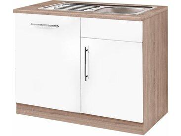 wiho Küchen Spülenschrank Aachen B/H/T: 110 cm x 85 60 cm, 1 weiß Spülenschränke Küchenschränke Küchenmöbel