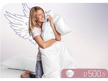 Daunenbettdecke, D500, Schlafstil, Füllung: 100% Daunen, Bezug: Baumwolle weiß, 155x200 cm weiß Daunendecke Bettdecken Bettdecken, Kopfkissen Unterbetten Bettdecke